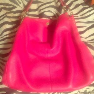 Coach Leather Pink Bag